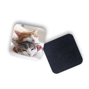 Quality 8 X 8cm Square Shape Red Fox Custom Printed Coasters for sale