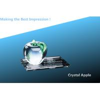 Best crystal apple with crystal flat base/crystal apple paperweight/crystal k9 awards/3D laser wholesale