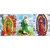 Quality 0.6mm PET Flip Religion Virgin Mary / Jesus 3D Lenticular Images For Wall Decro​ for sale