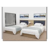 Quality Fashion Hotel Bedroom Furniture / Green Material Queen Size Hotel Bed for sale