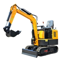 Quality China construction engineering small Digger Machine 800kg/0.8ton Micro Excavator for sale