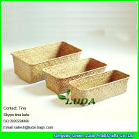 Best LUDA home storage box natural straw baskets set of 3 wholesale
