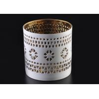 Best Pierced 8cm Height handmade ceramic candle holders Golden Electroplated as Wedding Souvenir wholesale