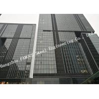 China Double Glazed Layer Glass Facade Curtain Walling Multi-storey Steel Building For Business Mall on sale