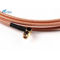 Buy RG316 RF Coaxial Cable Assembly N Female Bulkhead Connector SMA Male Right Angle at wholesale prices