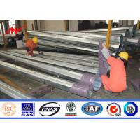 Best SGS Signle Circuit Galvanised Steel Utility Mast Pole With Hot Dip Galvanization wholesale