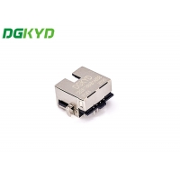 Buy cheap RJ45 Connector Sink 2.8 DIP Single Port Filter With Shielded Band Light from wholesalers