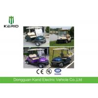 China 48V Battery DC Motor Electric Golf Carts With Tubular Steel Chassis 2 Person For Golf Course Using on sale