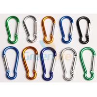 China Safety Lanyard Accessories Aluminum Locking Carabiner Easy Open Eco - Friendly on sale