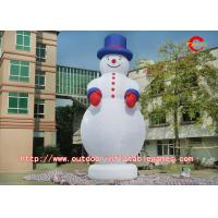 Buy cheap Outdoor Christmas Inflatable Snowman With Professional Printing Logo from wholesalers