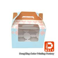 China 250 Grams Ivory Board Paper Food Boxes Single Cupcake Boxes With Window on sale