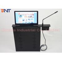 Quality Conference Room Meeting Microphone Slim LCD Monitor Screen Motorized Lift 17.3 Inch 1080P Screen for sale