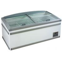 China 630L Four Sliding Glass Door Island Freezer , Commercial Deep Freezer For Supermarket on sale