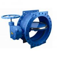 Quality 125 lbs / 200psi Double Eccentric / flange Butterfly Valve with HandWheel for sale