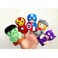 Quality Marvel Comic The Avergers Collecttion Felt Finger Puppet Plush Toys for sale