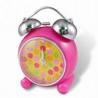 Quality Bell Alarm Desk Clock with Plastic Case for sale