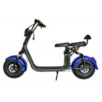 China TM-TX-07   1000W Long Range Electric Scooter , Blue Electric Motorcycle Wheel Material Steel on sale