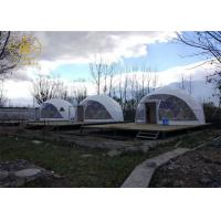 Quality PVDF Or PTFE Geodesic Camping Tent Outdoor Strong Structure Half Sphere for sale