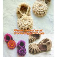 China Baby Boy Girl Infant Knit Shoes Handmade Crochet Booties on sale
