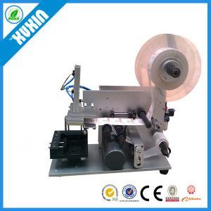 China Semi-automatic Flat Labeling Machine X-60; Flat labeling machine for carton; flat glass bottle; Square bottle on sale