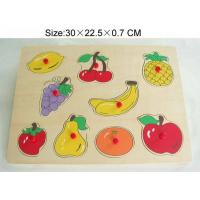 China TP110069 Wooden  Fruit puzzle in red knob on sale
