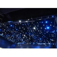 Quality AC220V Commercial LED Curtain Lights  Blue / White Bead Background Wedding Stage Star Cloth for sale