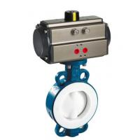 Quality DN65 wafer connection air water pneumatic actuator butterfly valve Double or single acting pneumatic actuator for sale