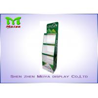 Quality 3 Tiers Green color custom cardboard displays shelf  for LED bulbs for sale