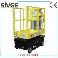 5m Working Height Aerial Scissor Lift Self Driven / Motor Driven For Fixture Works
