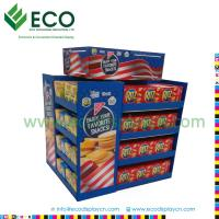 Best 4C CMYK Offset Printing Cookie Display Case, Cardboard Pallet Display, Cardboard Display Shelves wholesale