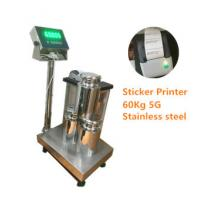 China WF3040-6005 60Kg/5g high accuracy industrial STAINLESS STEEL bench weighing scale with sticker printer on sale