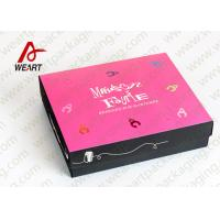 White Card Paper Presentation Boxes Folding Feature CMYK Printing Insert