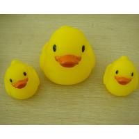 China Small Baby Shower Rubber Duck Family Bath Set , Floatable Promotional Rubber Ducks  on sale