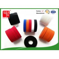 Quality Colored hook and loop tape nylon / polyester Material , double sided sticky velcro tape 500 meters for sale