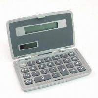 Quality Foldable Calculator with Solar Power and Eight-digit LCD Panel for sale