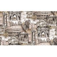Quality Waterproof Pvc Vinyl Deep Embossed Wallpaper Washable With City Pattern for sale