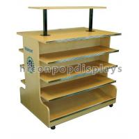 Buy cheap 4 Tier Wooden Retail Display Shelves Store Fixtures Visual Merchandise from wholesalers
