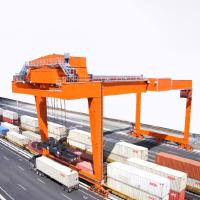 China Port Gantry Crane To Lift Shipping Container 20 ' 40 ' Rubber Tyred 1 Year Warranty on sale