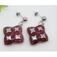 Best High quality Antique style Stainless Steel Epoxy dangle Earrings with star wholesale
