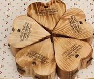 China Unique Natural Unfinished Wood Craft Hinged Box for Christmas Packaging on sale