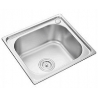 Quality small square stainless steel satin plating kitchen sink 38*33CM for sale