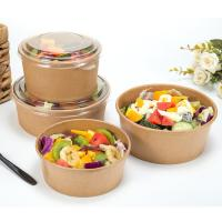 Quality Disposable paper bowls with lids kraft paper coffee cups big paper bowls for sale
