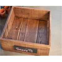 China Wood Crate / Chalk Board Square - Made of Reclaimed Wood on sale