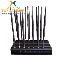 Quality 14 Channels 35w Cellphone Signal Jammer Block GSM DCS 3G 4G LTE Wifi 5.8G Lojack 315 433 for sale