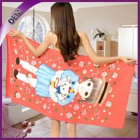Quality microfiber towel wholesale polyester fabric promotional beach towel for women for sale