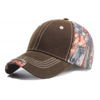 Quality Camouflage Outdoor Baseball Caps Cotton Material For Adults Black / Browm Color for sale
