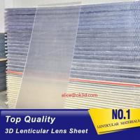 Quality 20 LPI 120x240 lenticullar flip  sheet  with large format 3D lenticular plastic sheets for Flip effect printing Canada for sale