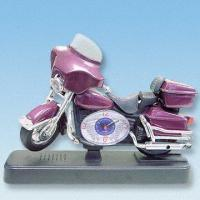 Quality Miniature Motorcycle Table Clock with Alarm and Flashing Light for sale