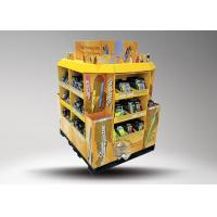 Best 4 - side POS Floor Stationery Display Stand , Cardboard Pallet Display Stand wholesale