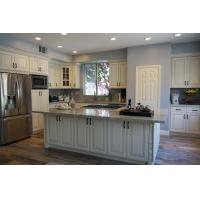 Best Matt Thermofoil White Kitchen Cabinets With Moisture Proof Board And Blum Hinges wholesale